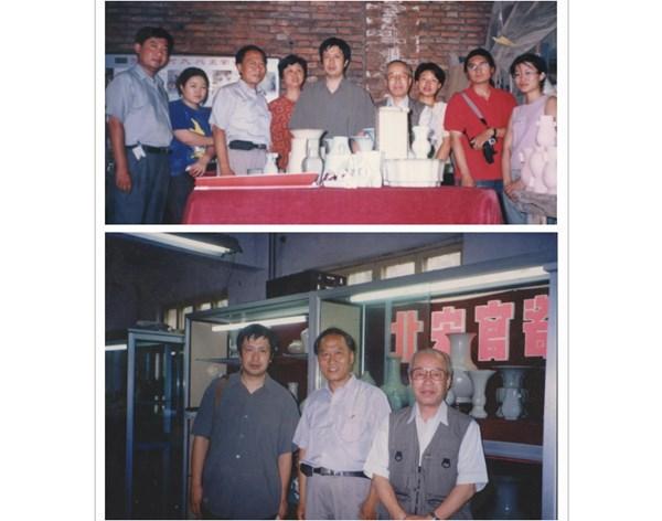 2002清华大学教授协同日本学者及日韩学生来何氏官瓷参观学习